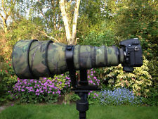 Nikon 400mm f2.8 AFS II Neoprene lens protection camo cover Woodland Green Blk