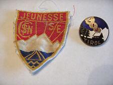 INSIGNE BADGE JEUNESSE SNCF   CIJ TYROL 1945