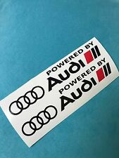 2x POWERED BY AUDI S-line Aufkleber Car Window Bumper Sticker Vinil 202