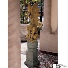 Garden Statue Gargoyle Medieval Guardian Sculpture Gothic Yard Entry Hall Decor