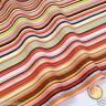"per 1/2 metre/fat quarter 100 % cotton stripe fabric pink/blue/green 44"" wide"