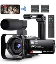 Video Camera Camcorder WiFi YouTube Vlogging Camera FHD 1080P 30FPS 26MP 16X