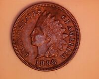 1898  INDIAN HEAD PENNY <> AU+ <> 4 DIAMONDS - 210-1
