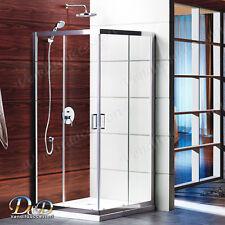 Box doccia cabina flat cristallo 6mm trasparente 80x100 altezza 190