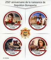 Guinea Napoleon Bonaparte Stamps 2019 MNH Famous People Military Horses 4v M/S