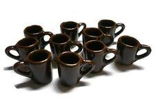 10 Coffee Mug Ceramic  Dollhouse Miniatures Supply Deco Kitchenware