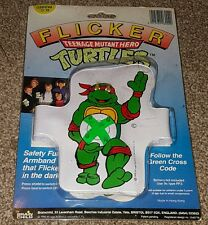 Vintage Flicker Green Cross Code Teenage Mutant Ninja Turtles Safety Armband