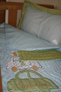 Boy TODLER 3pcs cot/cotbed bedding set:duvet cover,pillow case quilt TRANSPORT