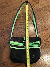 """Ivivva """" Nomnomnom� Black & Purple/green Lunch Bag/Tote W/ Removable Strap -Vguc"""