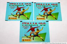Panini WM WC ITALIA 90 1990 – 3 x TÜTE PACKET BUSTINA SOBRE Vers. KELLOGG'S