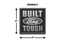 Built Ford Tough Emblem Logo Decal 2PK Set for F150 F-150 Truck Stickers GREY
