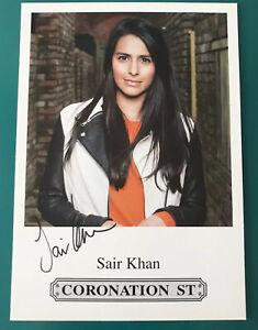 SAIR KHAN *Alya Nazir* CORONATION STREET Pre-Signed ITV Cast Card