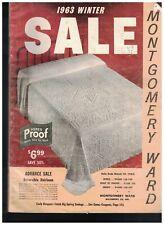 Montgomery Ward Sale Catalog Winter 1963 Clothing Fashion Housewares