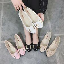 Women Patent Leather Flats Slippers 4 Color Ladies Bow Ballerina OL Casual Shoes