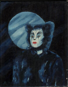 RUDOLF MÜLLER - CATS MUSICAL - munkustrap (?) * PAINTING ON PLATE