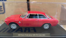 "DIE CAST ""ALFA ROMEO GIULIA SPRINT 1600 GTA CORSA 1965"" SCALA 1/24  AUTO VINTAGE"