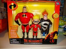 NEW Disney Pixar The Incredibles Talking super interactive 3 pack Figures Set