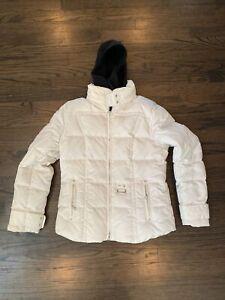 Bogner Authentic Women's Sz 10 M Jacket White Coat Removable Hood Ski Skirt Rare