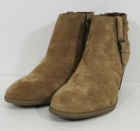 $90 Franco Fortini Womens Briana Zip Up Ankle Boot Shoes, Cognac, US 11