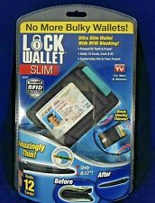 🔥NEW Lock Wallet Ultra Slim As Seen On TV Secure RFID Blocking Holds 12 Cards