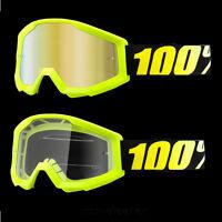 100 % Prozent Strata Neongelb Brille Motocross Enduro Downhill MTB Cross BMX