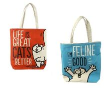 59f2a2094a Handy Cotton Zip up Shopping Bag - Simon s Cat Life Is Great Cats Are Better
