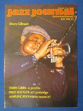 JAZZ JOURNAL MAGAZINE JULY 1984 TERRY GIBBS DIZZY GILLESPIE FRED ELIZALDE TRUTH
