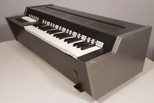 VINTAGE 1970s ELECTRIC CHORD ORGAN SILVER & BLACK WIND KEYBOARD NATIONAL GTR USA