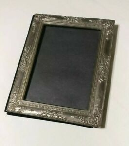 Silver Plated Photo Album Picture Frame Front Protective Pages Art Nouveau Style