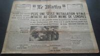 JOURNAL LE MATIN MARDI 15 OCTOBRE 1940 N°20.656 BE