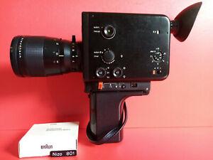 Vintage Design // Braun Nizo 801 Black. Super 8 Movie Camera /