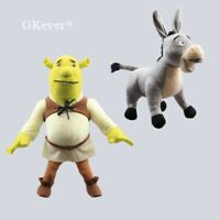 Cartoon Shrek Plush Toy Shrek Ogre & Donkey Stuffed Animal Plushies Doll BIG 2pc