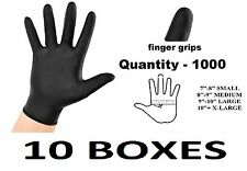 1000 x MEDIUM Tough Black Nitrile Tattoo Mechanic Disposable Gloves BULK