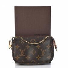LOUIS VUITTON Mini Pochette Accessories Monogram Hand Bag DU0172 USA located