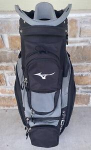 Mizuno BR-D4 14 Way Golf Cart Bag Black & Charcoal