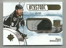 16/17 UD Ultimate Drew Doughty Keystone Fabrics Gold Patch 3CLR #d 19/49 KINGS