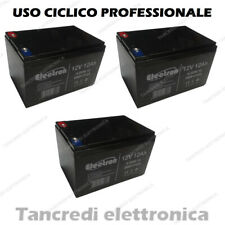 KIT 3 Batterie 12V 12AH GEL AL PIOMBO CICLICA DEEP CYCLE RICARICABILE 36V 15AH