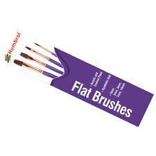 Humbrol Brush Pack Flat Brushes - Sizes 3, 5, 7 & 10 - AG4305