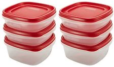 6 Containers Rubbermaid Easy Find Food Storage 4 X 3 Cup + 2 X 5 Cup