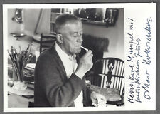 OSKAR KOKOSCHKA. Major Modern Artist. Signed Rare photo