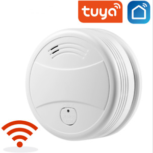 Smoke Detector Fire Sensor Tuya WiFi Smart Life App Firefighters Alarm Security