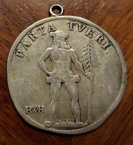 1718 H H Braunschweig Lüneburg Taler -  August Wilhelm 1714-1731 Silver Medalion