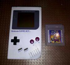 Nintendo Classic Gameboy Grau mit Spiel Wario Blast Konsole Neues Display