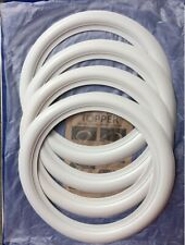 """Hot Rod Car 13"""" Rim White wall Topper Port-a-wall Set of4 Fast delivery via DHL"""