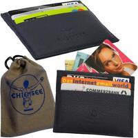 CHIEMSEE Since 1982 Kartenetui, Handmade Genuine Leather Karten Mappe Hülle Case