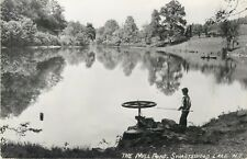 A Young Man Fishing In The Mill Pond, Swartswood Lake, New Jersey NJ RPPC