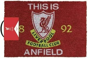 Liverpool FC Football This Is Anfield Kitchen Hallway ROOM Doormat Rug LFC Gift