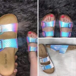 Sliders Sandals Mermaid Style Size 6