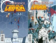 Convergence Superboy & Legion of Super-Heroes #1 & #2 Mini-Series Lot (DC, 2015)