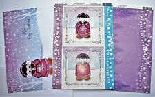 Kanban Cute Penguin Christmas Die Cut Foiled Toppers,Card, Insert Kit 54381